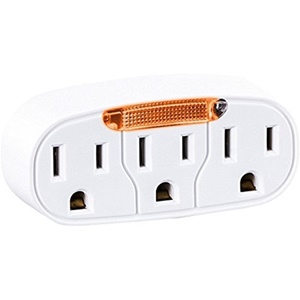 CyberPower GT300L 3-Outlet Guide Light Wall Tap Outlet Adapter