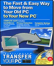 Intellimover Transfer Your PC Deluxe - Cables Included (USB & Parallel)