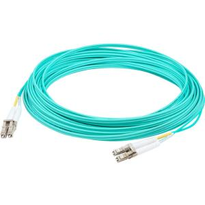 AddOn 0.5m Laser Optimized Multi-Mode Fiber Duplex LC/LC OM4 Aqua Patch Cable