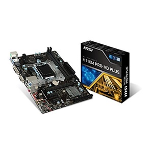 MSI H110M PRO-VD PLUS Micro ATX Desktop Motherboard w/ Intel H110 Chipset