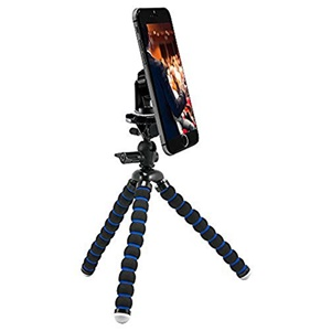 "Image of Arkon 11"" Flexible Tripod with Magnetic Phone Holder for Streaming Live Video"