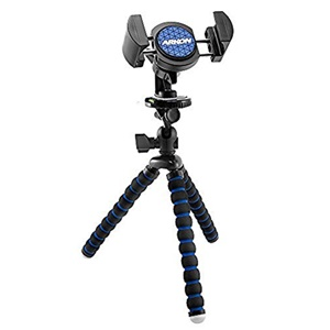 Image of Arkon 11 inch Tripod with Phone Holder Mount for Streaming Live Video