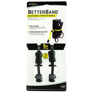"Nite Ize Better Band 5"" Adjustable Stretch Bands, 2 Pack (Black)"