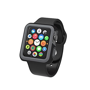 Image of Speck Products CandyShell Fit Smart Watch Case - Smart Watch - Black, Slate Gray