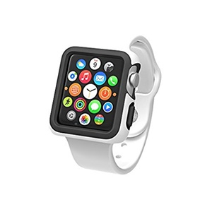 Image of Speck Products CandyShell Fit Smart Watch Case - Smart Watch - White/Black