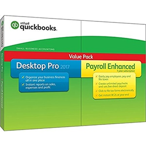 Intuit QuickBooks Desktop Pro with Payroll Enhanced 2017