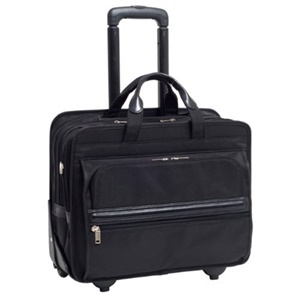 "McKleinUSA Franklin Nylon Detachable-Wheeled Laptop Case for 17"" Laptops - Black"