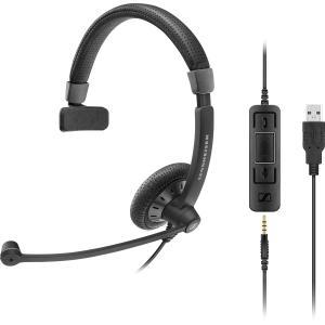 Click here for Sennheiser SC 45 USB MS Headset - Stereo - Black -... prices