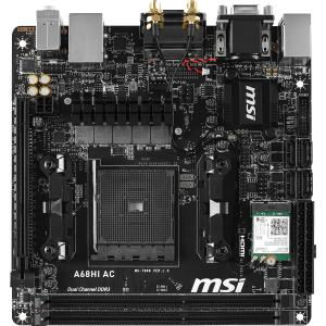MSI A68HI AC Mini ITX Desktop Motherboard w/ AMD Chipset & Socket FM2+
