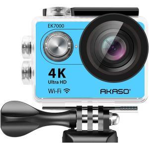 Image of AKASO EK7000 Ultra HD 4K Wi-Fi 170-Degree Wide Sports Action Camera - Blue