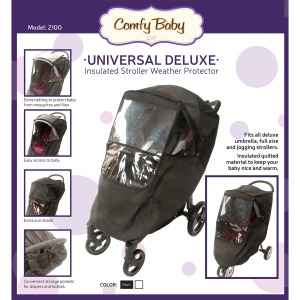 Image of Babyroues Insulated Weather Shield with Window for Joggers Strollers