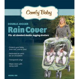 Image of Babyroues Comfy Baby Universal Double Jogging Stroller Raincover
