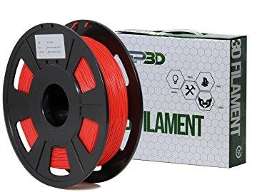 GP3D Flex Filament, 1.75mm, 0.5kg/Roll, Red - Red - 68.9 mil Filament