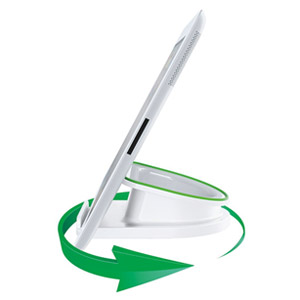 Leitz Rotating Desk Stand for Mobile Devices, White