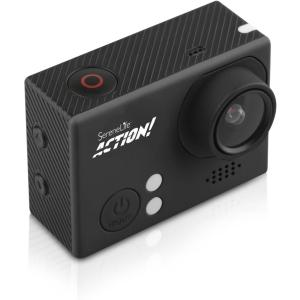 Pyle 4K Ultra HD WiFi Action Camera with Slo-Mo Recording (Black)