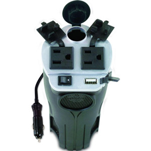Rally 200-Watt Cup Holder Power Inverter with USB Port