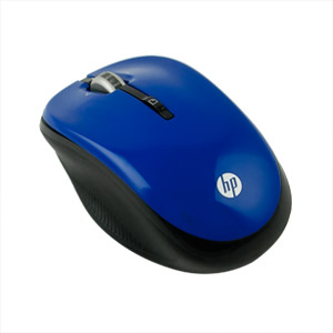 HP 2.4 GHz Wireless Optical Mobile Mouse, Candy Blue (Refurbished)