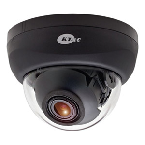 KT&C 2 Megapixel 750TVL Ultra HD Indoor Dome Surveillance Camera - Black