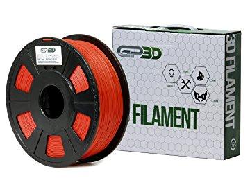 GP3D Red - PLA-1.75MM-3D Filament - Red - 68.9 mil Filament