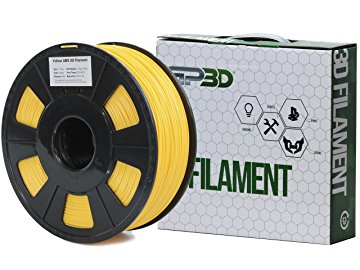 GP3D Yellow - ABS-1.75MM-3D Filament - Yellow - 68.9 mil Filament
