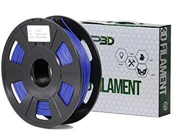 GP3D Flex Filament, 1.75mm, 0.5kg/Roll, Blue - Blue - 68.9 mil Filament