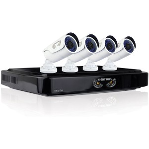 Night Owl AHD10-841-B 8-Channel Smart Video Security System 1TB 4x1080p Cameras