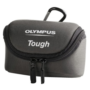 Olympus Carrying Case for Camera Gray Neoprene Belt Loop Carabiner Clip