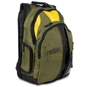 "Ruckus Notebook Backpack 15.4"" - Olive/Yellow/Black Backpack"