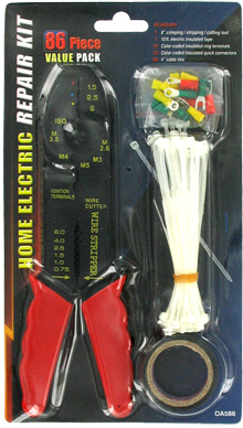 86 Piece Home Electric Repair Kit