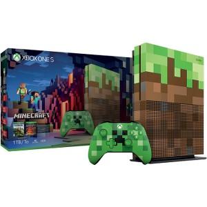 Microsoft Xbox One S 1TB Limited Edition Minecraft Bundle w/ Creeper Controller