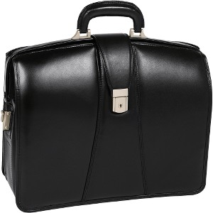 McKlein Harrison Black Full Grain Leather Briefcase fits up to 15.6