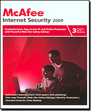 McAfee Internet Security 2009 - 3 User (15Mo. Protection) and  McAfee Anti-Theft 09