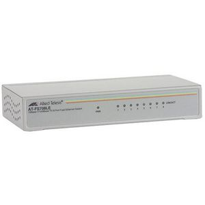 Allied Telesis AT-FS708LE Fast Ethernet Switch - 8 Ports - 8 x RJ-45 - 10/100Base-TX