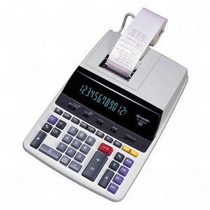 "Sharp 12 Digit Commercial Printing Calculator - 12 Character(s) - Fluorescent - Power Adapter, AC Supply Powered - 13.2"" x 9.0"" x 3.1"""