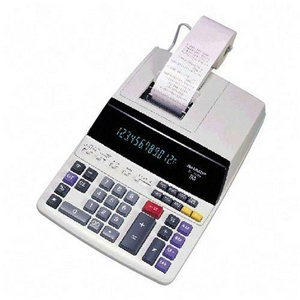 "Sharp Printing Calculator - 12 Character(s) - Fluorescent - Power Adapter, AC Supply Powered - 8.5"" x 10.5"" x 2.8"" - White"