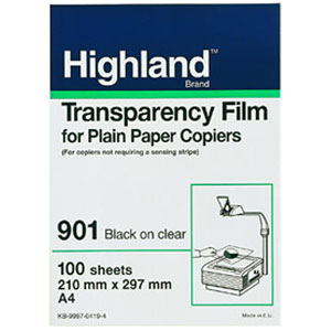 "3M Highland 901 Transparency Film - Letter - 8.5"" x 11"" - 100 x Sheet"