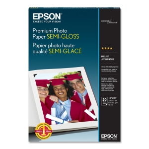 "Epson Premium Photo Paper - Super B - 13"" x 19"" - 251 g/m² - Semi-gloss - 93% Brightness - 1 Each"