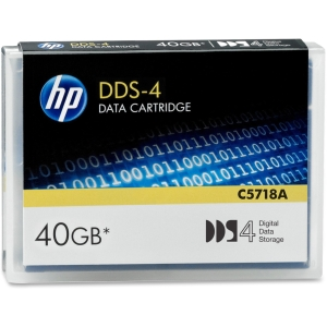 HP DAT DDS-4 Data Cartridge - DAT - DDS-4 - 20 GB (Native) / 40 GB (Compressed) - 1 Pack