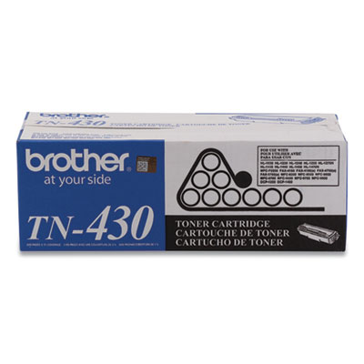 Brother TN430 Black Toner Cartridge - Black - Laser - 3000 Page - 1 Each - Retail