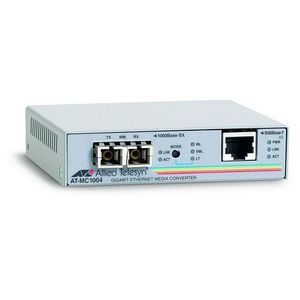 Allied Telesis AT-MC1004 Media Converter - 1 x RJ-45 , 1 x SC - 1000Base-T, 1000Base-SX