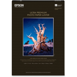 "Epson Photo Paper - A3 - 11.70"" x 16.50"" - 240 g/m² - Luster - 97% Brightness - 50 Sheet"
