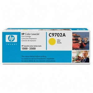 HP Color LaserJet C9702A Yellow Print Cartridge in Retail Packaging - 4000 Page Yield