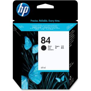 HP 84 Black Ink Cartridge - Black - Inkjet - 1 Each - Retail