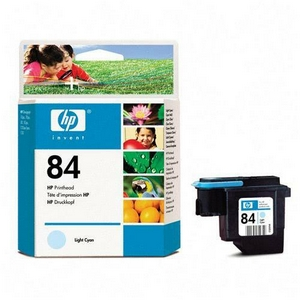 HP 84 Cyan Printhead - Light Cyan - Inkjet - 1 Each - Retail