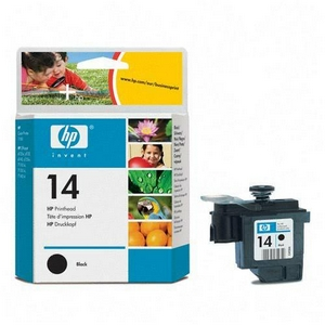 HP 14 Black Printhead - Black - Inkjet - 16000 Page - 1 Each - Retail