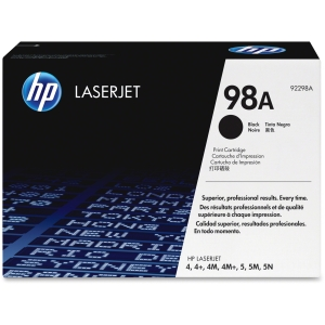 HP 98A Black Toner Cartridge - Black - Laser - 6800 Page - 1 Each - Retail