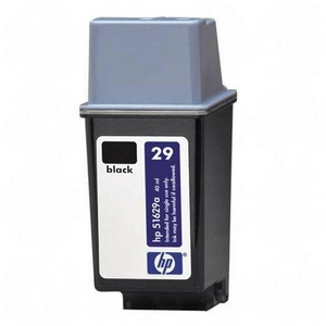 HP 29 Black Ink Cartridge - Black - Inkjet - 720 Page - 1 Each - Retail