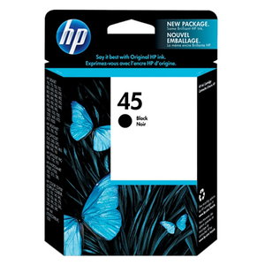 HP 45 Black Ink Cartridge - Black - Inkjet - 930 Page - 1