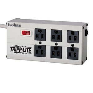 Tripp Lite Isobar 6 Outlet 120V Surge Suppressor - Receptacles: 6 x NEMA 5-15R - 3330J