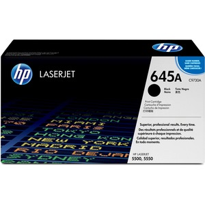 HP 645A Black Toner Cartridge - Black - Laser - 13000 Page - 1 Each
